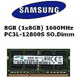 Samsung 8GB (1x 8GB) DDR31600MHz (PC3L 12800S) so dimm Voltaggio Basso Notebook Laptop Memoria RAM