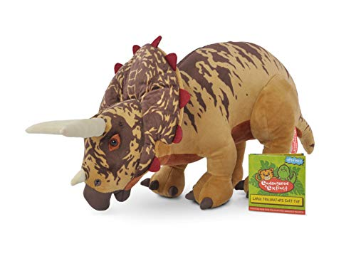Endangered and Extinct Triceratops Dinosaur Plush with Educational Hangtag, Triceratops Soft Toy, 45cm, Gift for Kids…