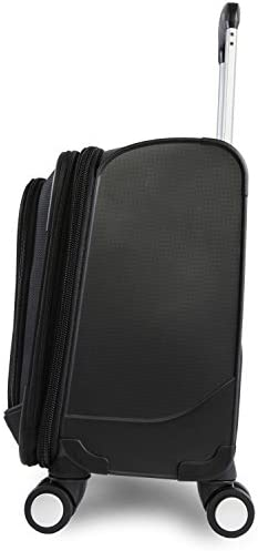 Perry Ellis 8-Wheel Spinner Mobile Office, Black, One Size