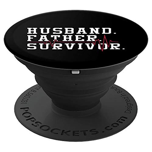 Husband Survivor life Victory - Heart Attack Pop socket - PopSockets Grip and Stand for Phones and Tablets