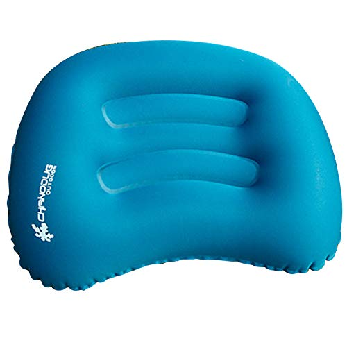 CHANODUG Ultralight Inflatable Travel/Camping Pillow Air Cushion/Pad Small Pack - Compressible, Compact, Portable, Ergonomic Pillow for Neck & Lumbar & Back Support While Camp, Backpacking, Sleeping (Pillow Inflatable)