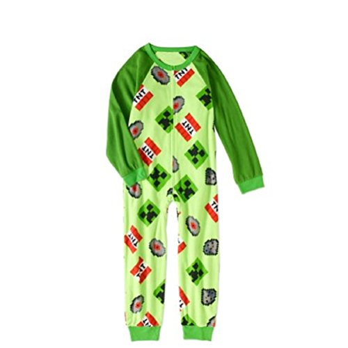 AME Minecraft Boys Sleeper Pajama (Green, XS 4/5)]()