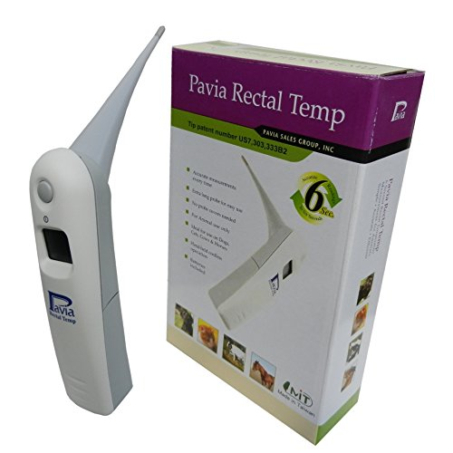 Fast Rectal Thermometer for Dogs, Cats, Horses, Pets and Livestock. Accurate Temps in Only 6 Seconds. Pavia Rectal Temp, Trusted by Veterinarians, Breeders, Shelters and Pet Owners.
