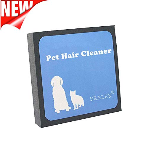 (SEALEN Pet Hair Cleaner, Reusable Hair Fur Remover for Pet Dogs Cats,Magic Pet Hair Foam Block Erasing for Furniture Bedding Carpets Car Seats Clothing)
