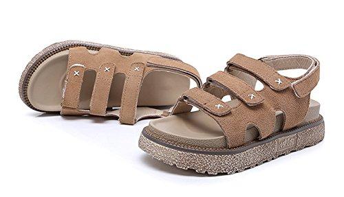 plates d'été semelle Femmes mode la xie tendances épaisse 34 sandales dames étudiants khaki romaine à sandales chaussures d'été cuir en de 42 nqPZgEZY