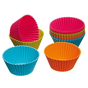 12 PCS/Set Cake Cup Kitchen Craft Colour works Silicone Cupcake Cases forma de silicone Cake Decorating
