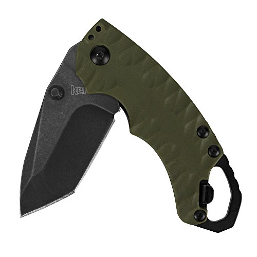 Kershaw Shuffle II Olive Multifunction Folding Pocket Knife (8750TOLBW), 2.6 In. 8Cr13MoV Stainless Steel Tanto Blade with Blackwash Finish and Reversible Pocketclip; 3 oz by Kershaw