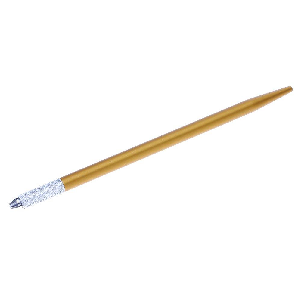 GGG Portable Professional Semi-permanent Steel Eyebrow Lip Tattoo Pen Needle Tip Makeup Tool Purple