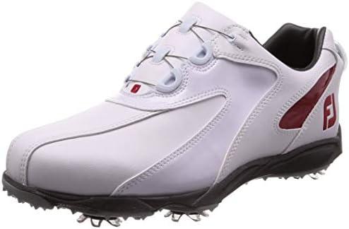ゴルフシューズ EXL SPIKE Boa メンズ ホワイト/レッド (19) 25.0 cm 3E 45187J M