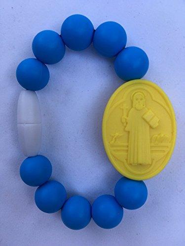 Sky Blue Kids St. Benedict Medallion Bracelet