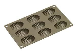 Lurch 85025 - Molde flexible para 9 magdalenas, color marrón