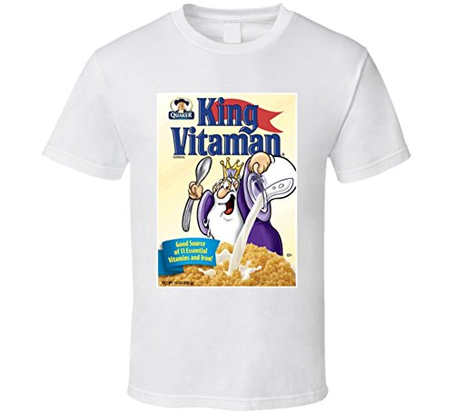 King Vitamin Retro 80s Cereal Tshirt XL White