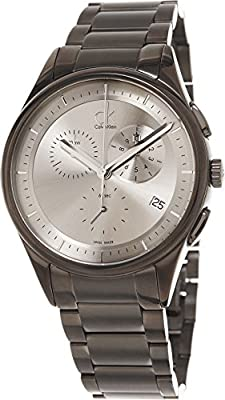 Calvin Klein Men's K2A27920 Basic Analog Display Swiss Quartz Grey Watch