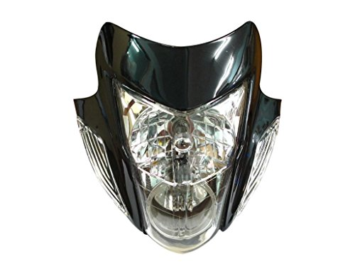 Racing Parts Streetfighter Street fighter Motorcycle Bike Headlight Head Light Lamp Black Sonic Style (Aftermarket Motorcycle Headlights compare prices)