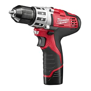 "Milwaukee 2494-22 M12 Cordless Combination 3/8"" Drill/Driver and 1/4"" Hex Impact Driver Dual Power Tool Kit (2 Lithium Ion Batteries, Charger, and Bag Included)"