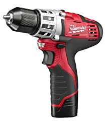 "Milwaukee 2494-22 M12 Cordless Combination 38"" Drill Driver & 14"" Hex Impact Driver Dual Power Tool Kit (2 Lithium Ion Batteries, Charger, & Bag Included)"