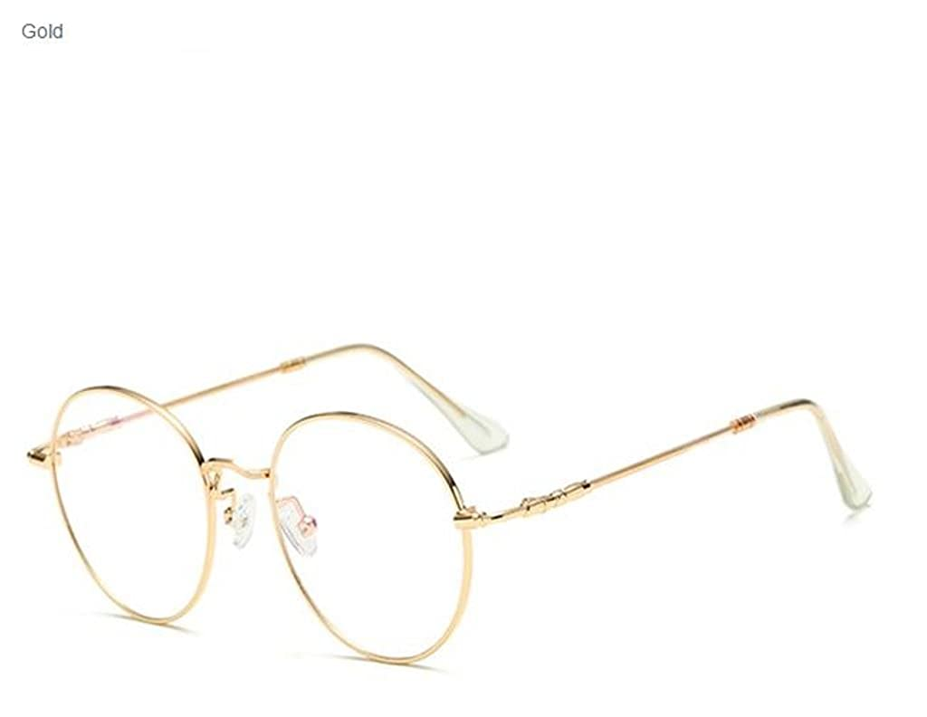 667d7a38c5 Amazon.com  Unisex Ultra-light Radiation Protection Eyeglasses Round Oval  Metal Rim Vintage Lens Glasses by Stcorp7 (Black