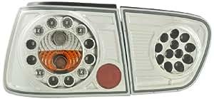 FK Automotive FKRLXLSE007 - Faros traseros para Seat Ibiza 6K, año 97-01, color cromo