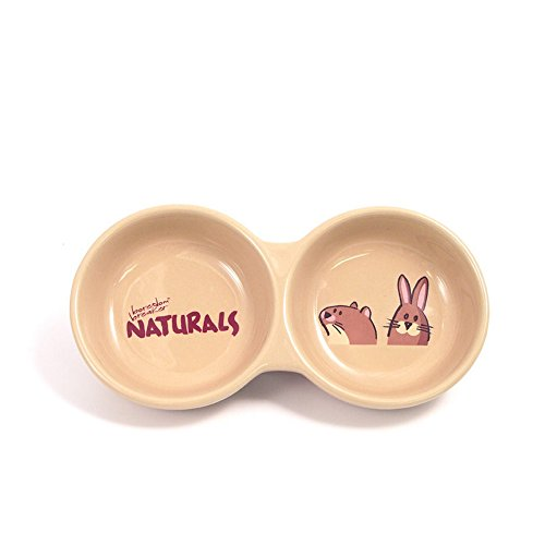 Stoneware Animal - Rosewood Twin Naturals Stoneware Pet Bowl (8in) (Beige)