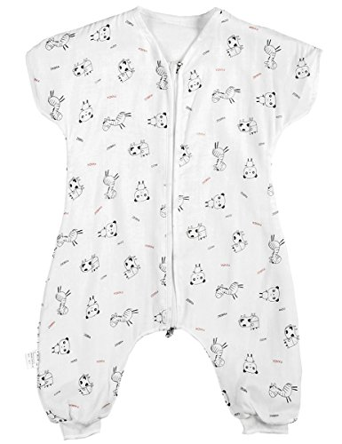 Sleepsack Early Walker (Kisbaby Early Walker Sleeping Sack Summer Three Layer Muslin Toddler Wearable Blanket, Panda, 18M)