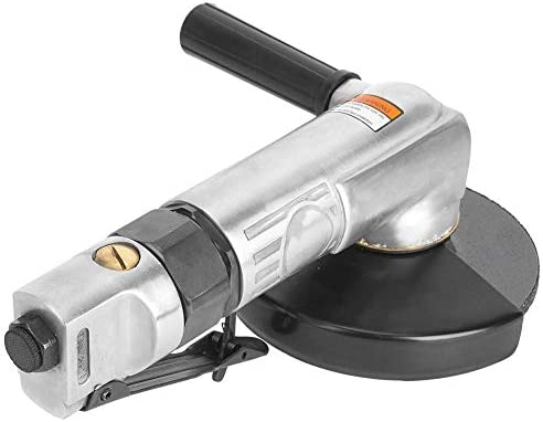 Niady XQ-818 Pneumatic Angle Grinder 11000rpm 3.8cfm 6.2Bar 1/4in Air Inlet Connector Industrial Grinder(5in)