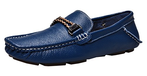 Blue Casual Comfort Shoes Boat Driving Loafers Penny Mens Leather TDA qznTqEF