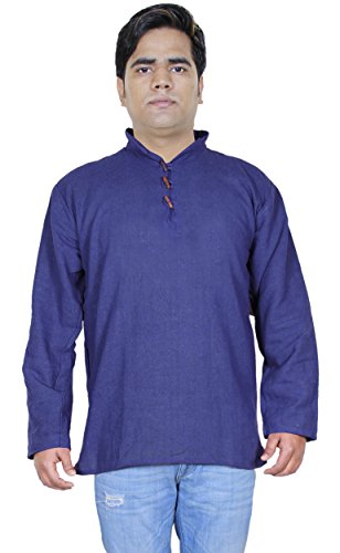 khaadi-kurta-indian-ethnic-cotton-shirt-for-men-blue-yoga-t-shirt-full-sleeve-s