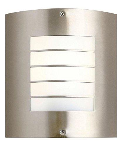 One Light Brushed Nickel Outdoor Wall Light - Nickel Newport 1 Light