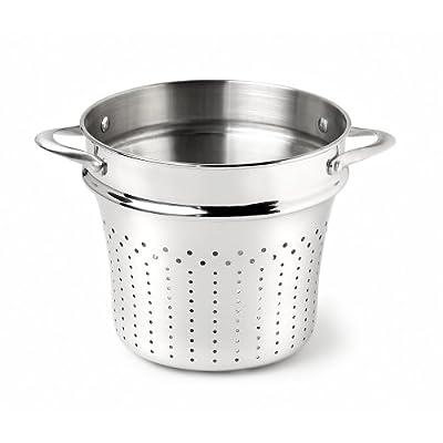 Calphalon Contemporary Hard-Anodized Aluminum Nonstick Cookware, Pasta Strainer Insert, 8-quart, Black
