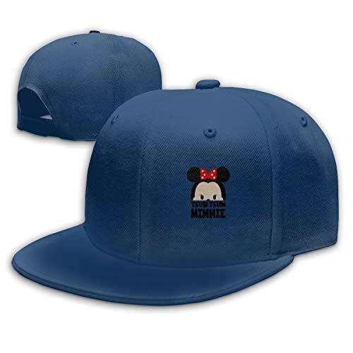 Sakanpo Minnie Flat Visor Baseball Cap, Designed Snapback Hat Navy]()