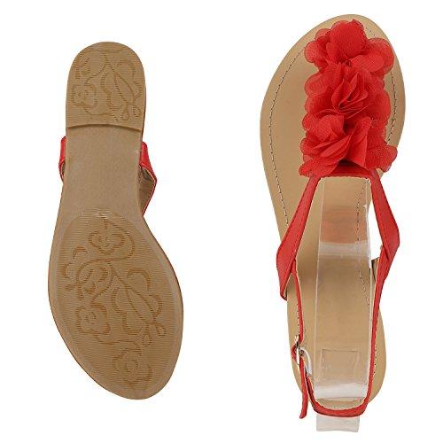 napoli-fashion - Chanclas Mujer Rojo