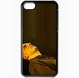 Personalized iPhone 5C Cell phone Case/Cover Skin Andy Narell Shirt Bald Light Neck Black