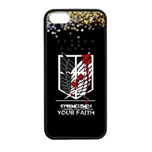 Fashion Attack on Titan Protective Hard Durable Rubber Coated Case Cover for iPhone 5 / iPhone 5S