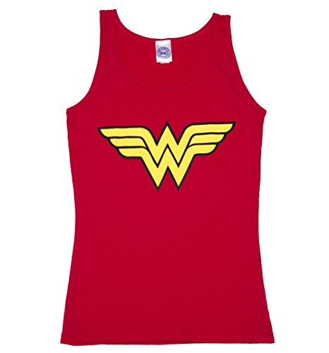 Womens Red Wonder Woman Logo Tank -