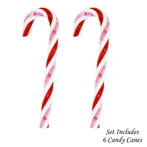 Kurt Adler Red White and Pink Candycane Ornament Set