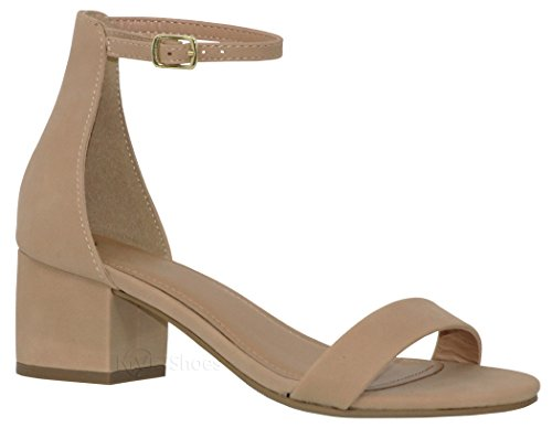 MVE Shoes Chunky Block Heel Dress Sandal Over Toe & Ankle Wrap Strap, Natural Nb 8.5 Chunky Heel Dress Sandals
