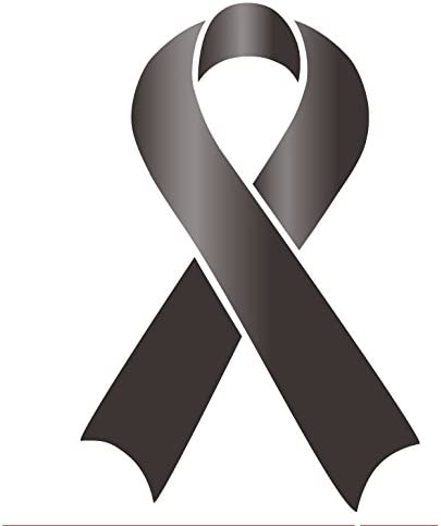 Amazon Com Melanoma Skin Cancer Awareness Ribbon Car Auto Glass Wall Vinyl Sticker Everything Else