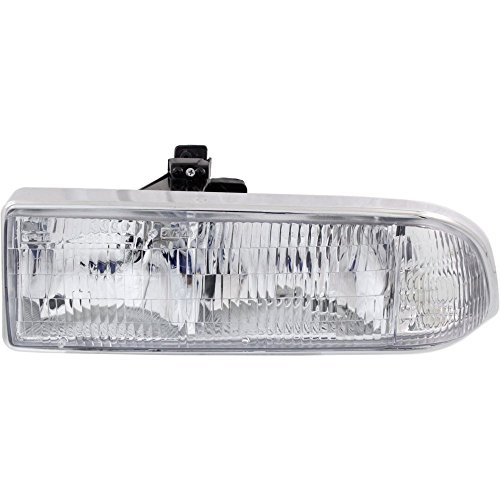 S10 Pickup Driver - Evan-Fischer EVA13572014277 Headlight for BLAZER 98-05 S10 PICKUP 98-04 Composite Assembly Halogen With Bulb(s) Driver Side