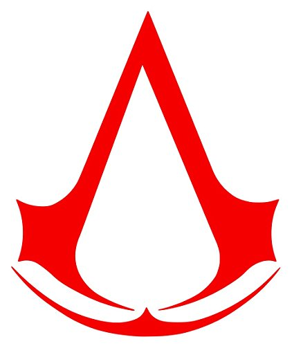 Assassin's Creed Sticker Decal Vinyl (2''x1.5'', Red)