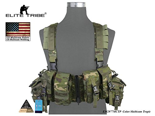 LBT 1961A-R Load Bearing Chest Rig Tactical CORDURA Molle Vest Multicam Tropic by Paintball Equipment