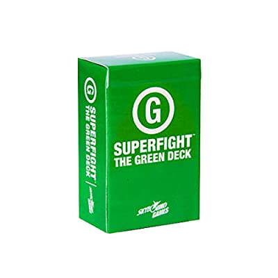 Superfight Green Deck: 100 Kid-Friendly Cards for the Game of Absurd Arguments | Enjoyed by Kids Teens and Adults, 3 or more players Ages 5+: Toys & Games