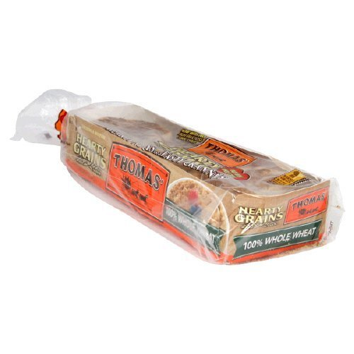 Thomas' Hearty Grains 100% Whole Wheat English Muffins 18 Oz 2 Packs by Thomas' -