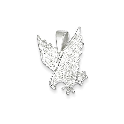 Charm Silver Sterling Solid Eagle (Solid Sterling Silver Eagle Charm Pendant)