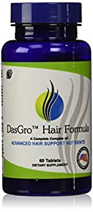 DasGro Hair Growth Vitamins with Biotin and DHT Blocking Ingredients for All Hair Types, 30 Day Supply