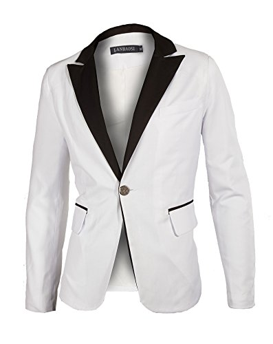 Shawl Collar Jacket In Black And White - 1
