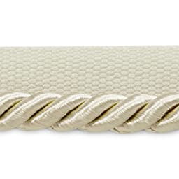 Expo International 20-Yard of Emmerson Twisted Lip Cord Trim, 1/4-Inch, Ivory
