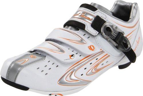 Pearl iZUMi Women's Elite RD III Cycling Shoe,White/Silver,38.5 EU/6.5 D US