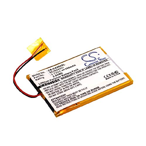 Replacement Battery for Creative DVP-FL0007, Zen Mozaic 2GB, Zen Mozaic 4GB Part NO 8E0604001