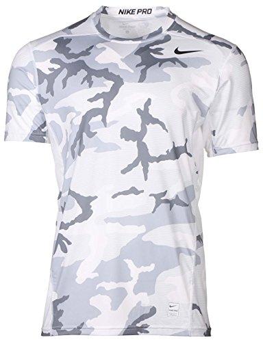 Nike Hommes Pro Hypercool Chemise De Compression Équipée De Camouflage 848884-010 Blanc