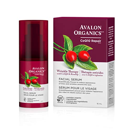 Avalon Organics Wrinkle Therapy Facial Serum, 0.55 - Facial Organics Vitality Vitamin Serum Avalon C